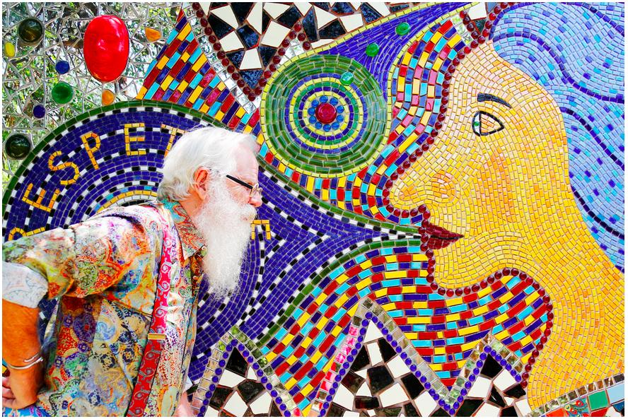 Mosaic artist Anado McLaughlin