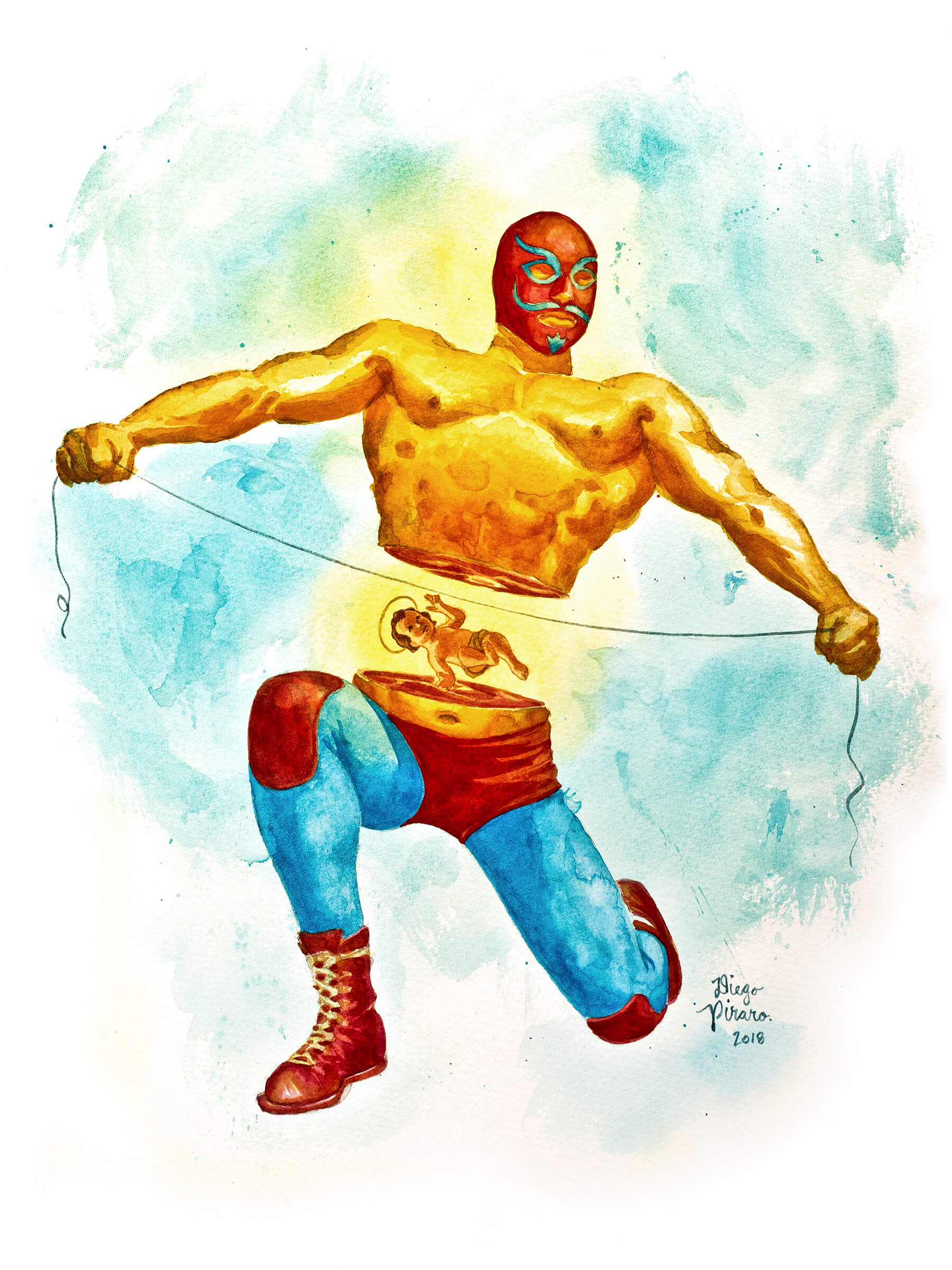 Luchador Mitad