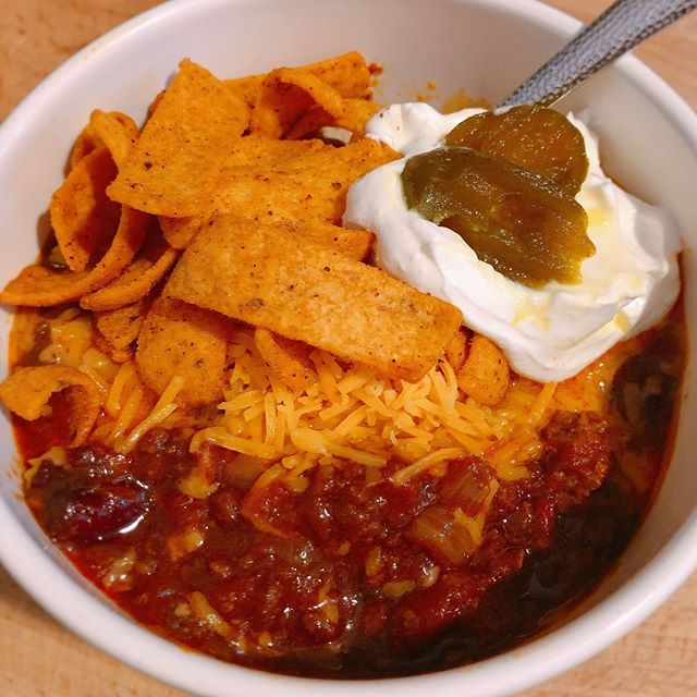 This weather calls for Smoky Slow-Cooker Chili #chili #spicy #ohioweathersucks #chiliwarmsthesoul #slowcookerrecipes #cooksillustrated