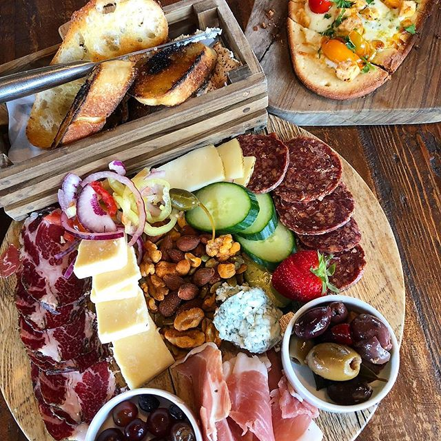 The perfect way to end the weekend! #cheeseboard #charcuterieboard #laurentiawinery #ohiowineries #laurentia #winetime #cheeseboardlove