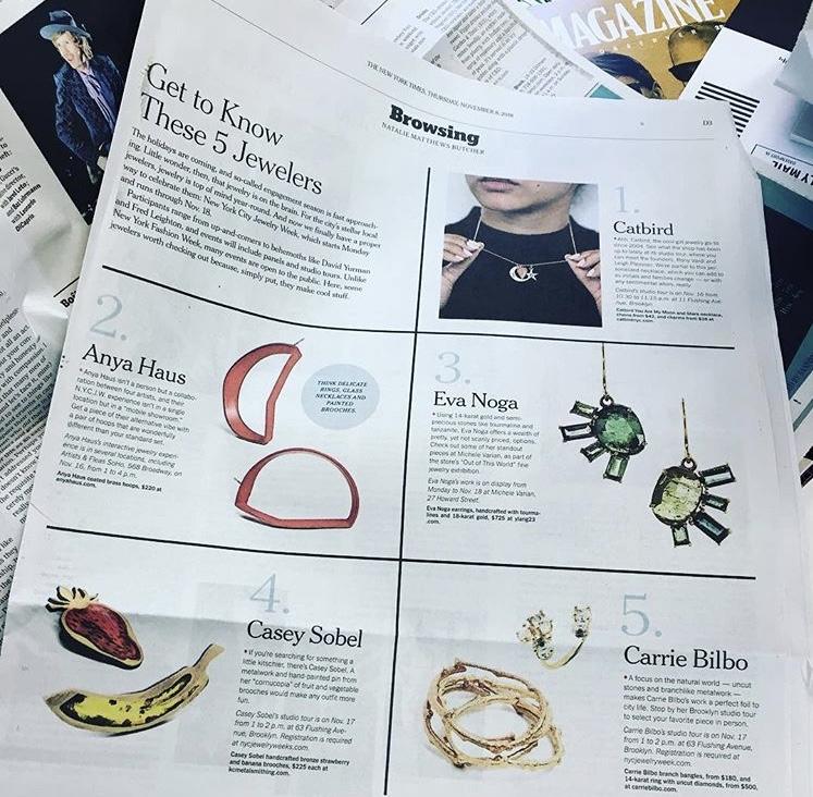 Thursday's Style Section,  New York Times , Thursday, November 8, 2018