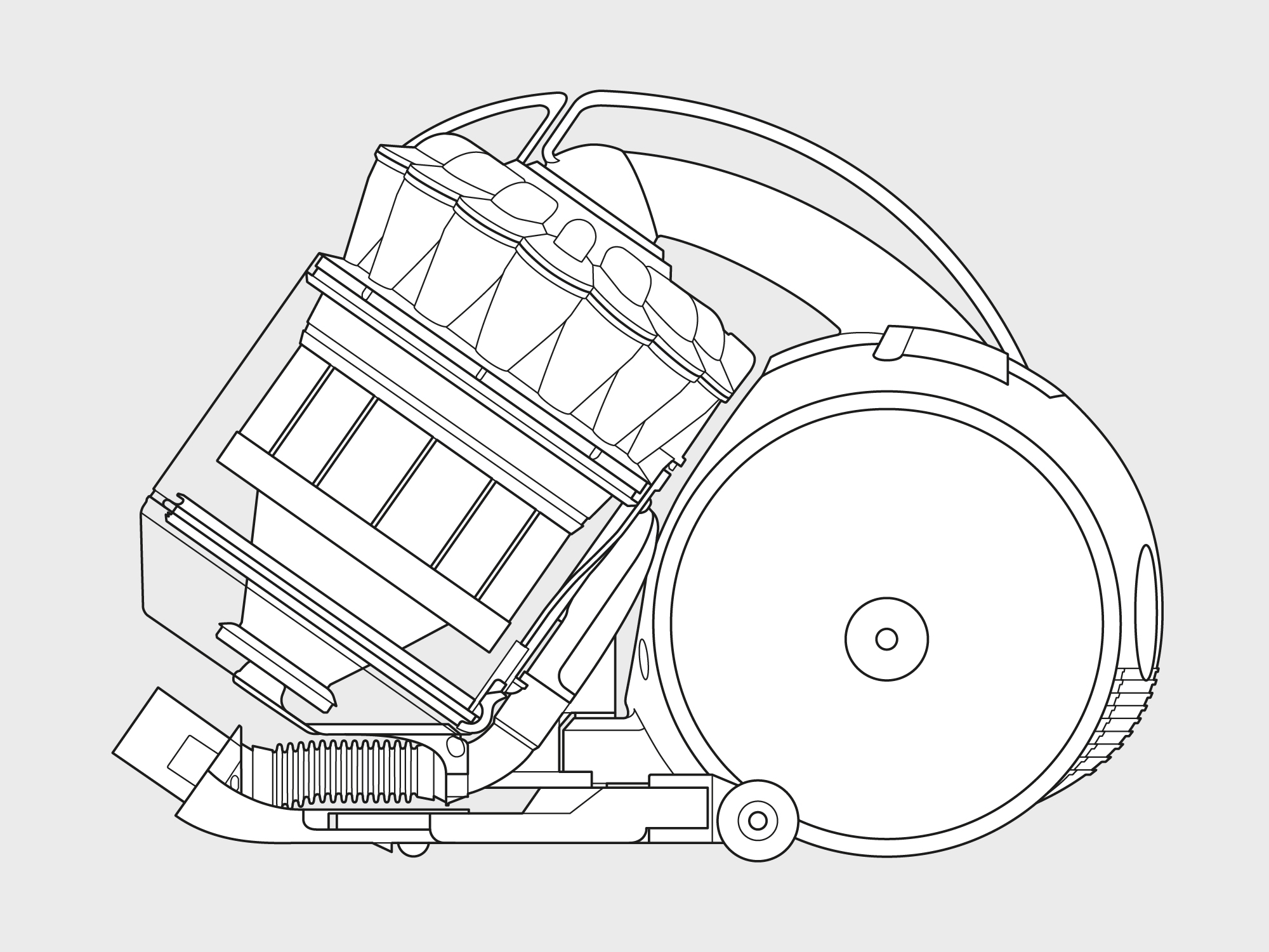 Dyson – cylinder vacuum technical illustration 1