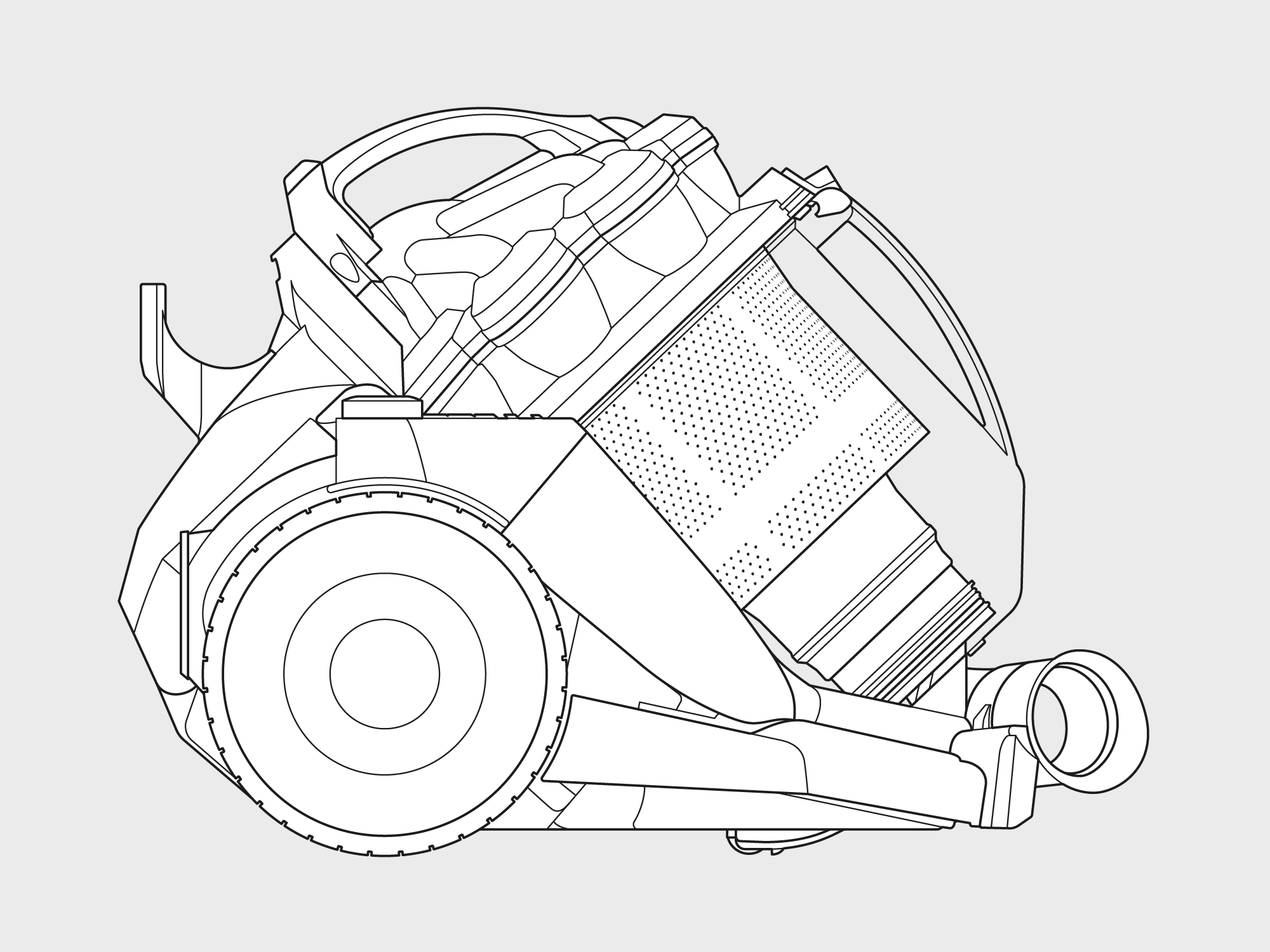 Dyson – cylinder vacuum technical illustration 2