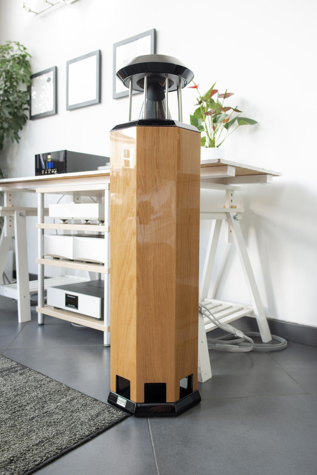 HRS-130 loudspeaker in high polish oak | Audio-philia, Edinburgh, Scotland