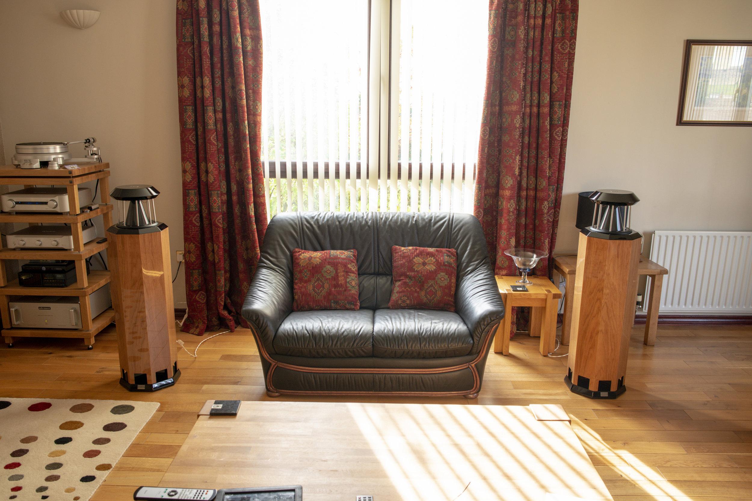 HRS-130 loudspeakers in high polish oak | Customer, Scotland