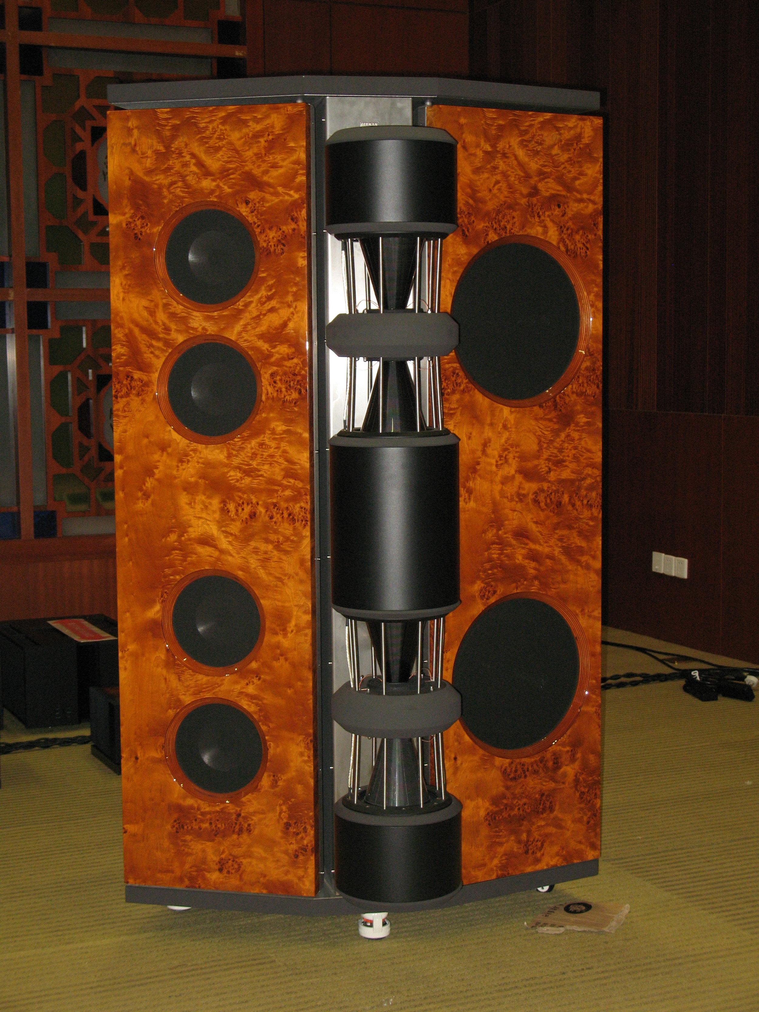 Emperor MK II loudspeaker in papple cluster | Guangzhou Show 2009, China