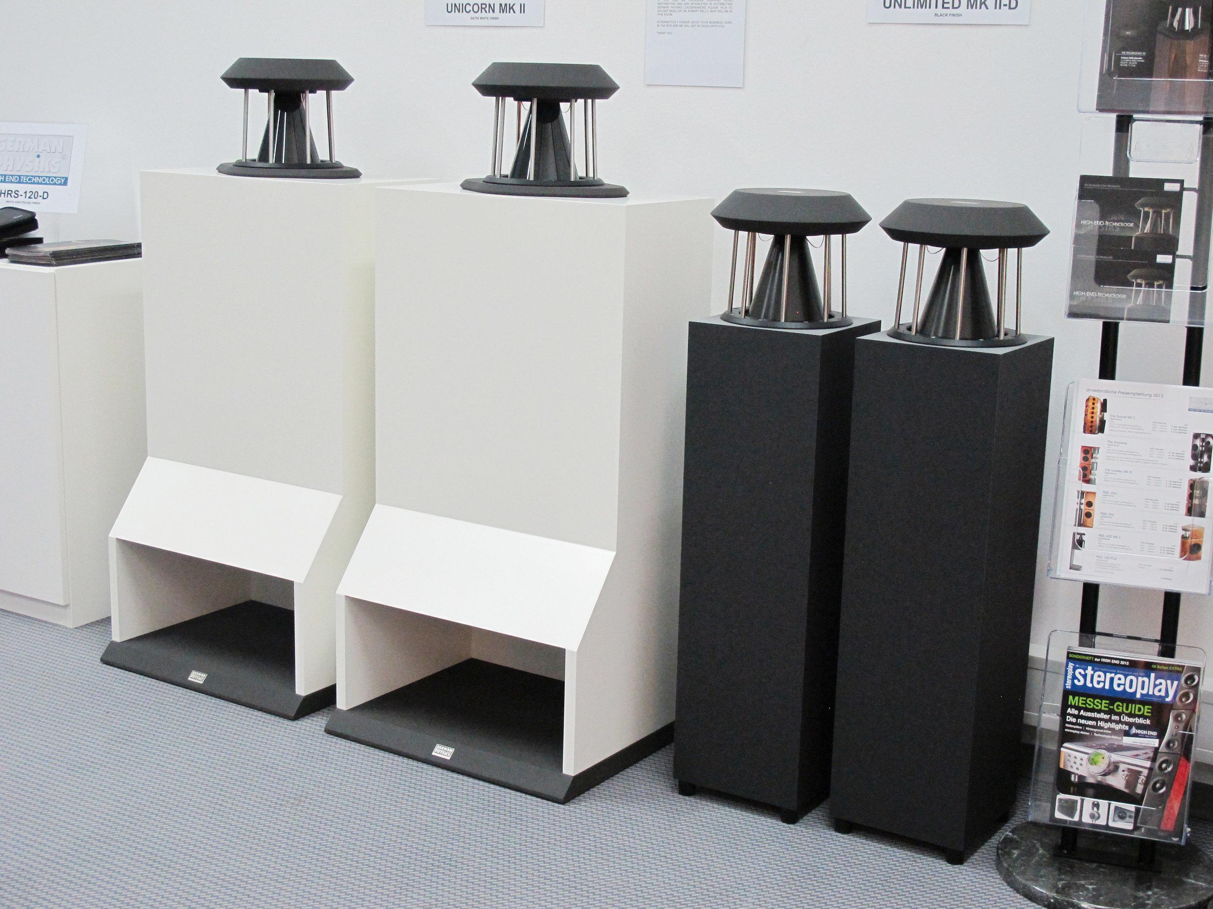 Unicorn MK II and Unlimited loudspeakers | Munich Hi-Fi Show 2013, Germany