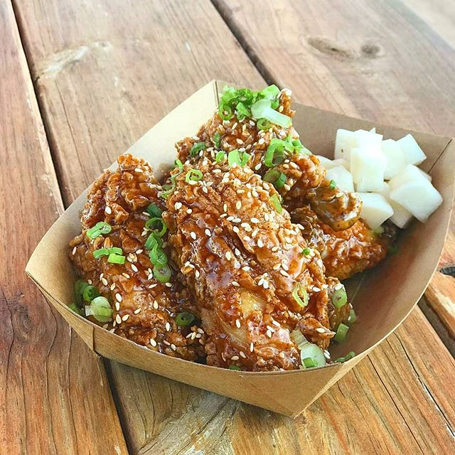 You've had a hard 4 day week 😩. You deserve Honey Butter Chicken Wings. Get 'em at the truck before they fly away 🤦  Get it? Because chickens don't fly? 🤦🤦🤦 #FriedChickenFriday