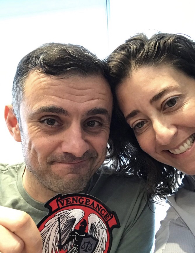 Gary Vaynerchuk and Claude Silver with my squadron patch