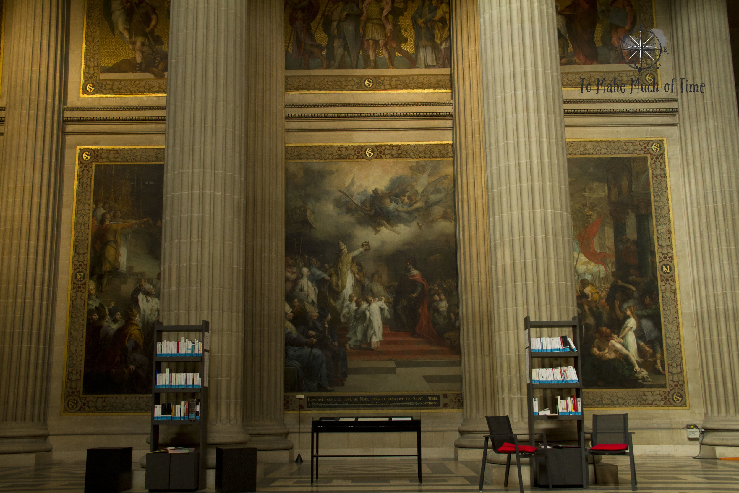 Books written by those entombed below can be found in this small library located within the Pantheon.