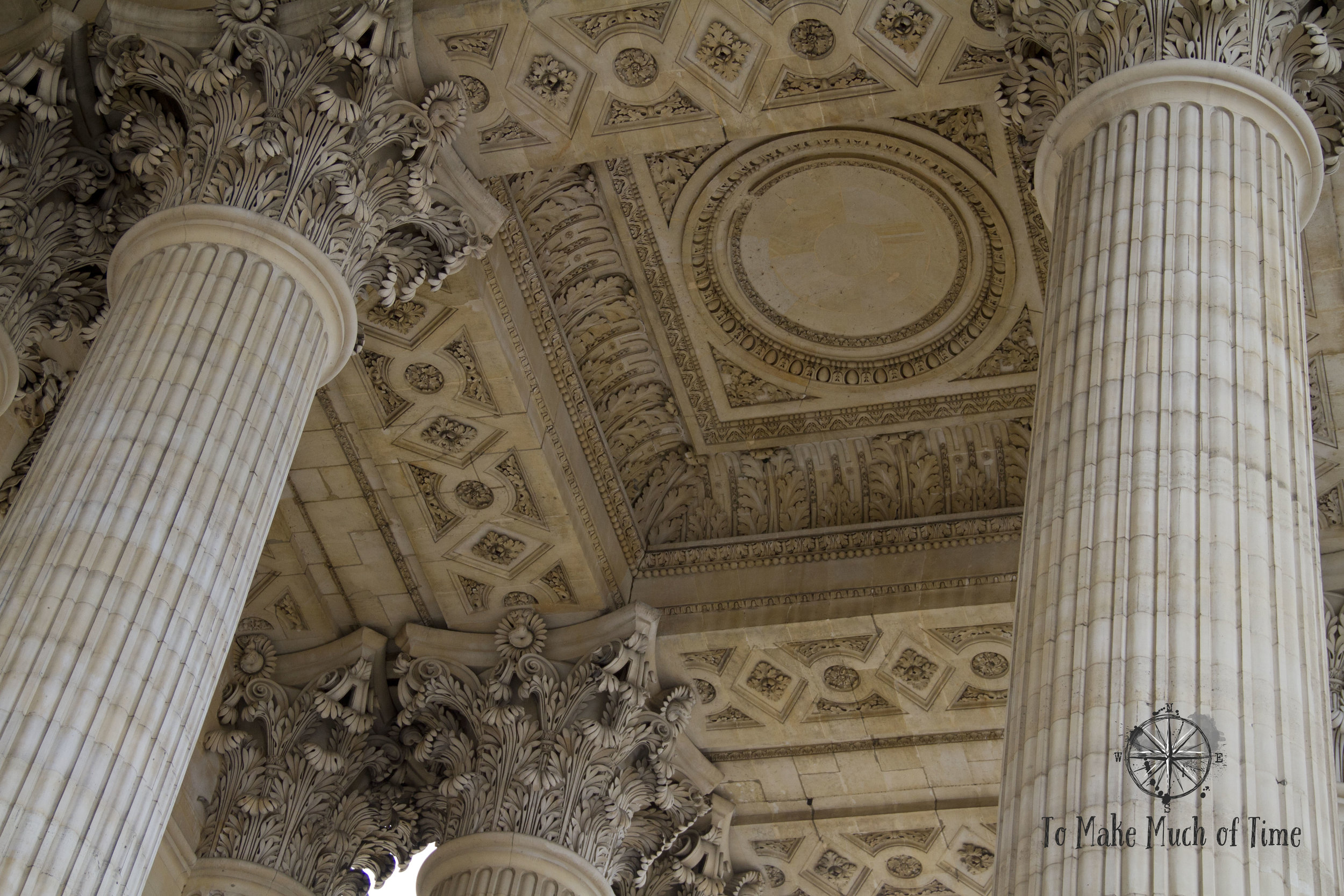 From the columns to the ceiling and floors, everything at the Pantheon is decorated and embellished.