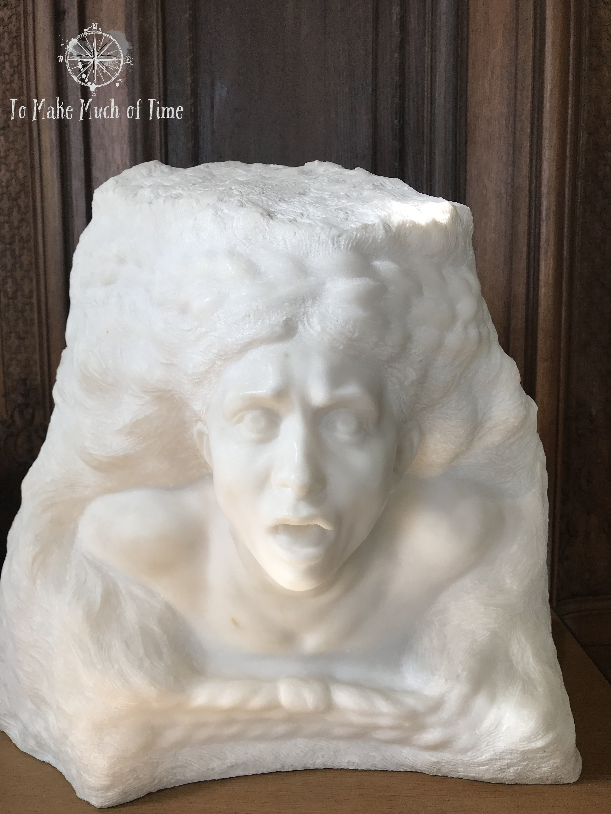 As I looked at this I wondered if the folks at Lucas Films had seen this sculpture before creating the Han Solo frozen in carbonite seen in Star Wars. It does bear a striking resemblance.