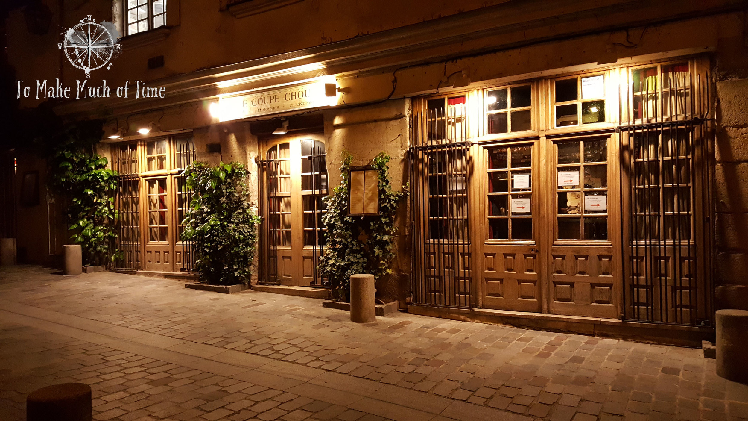 From what appears to be the entrance of Le Coupe Chou, follow the signs around to the right and look for the small unassuming door that brings you into this wonderful restaurant.
