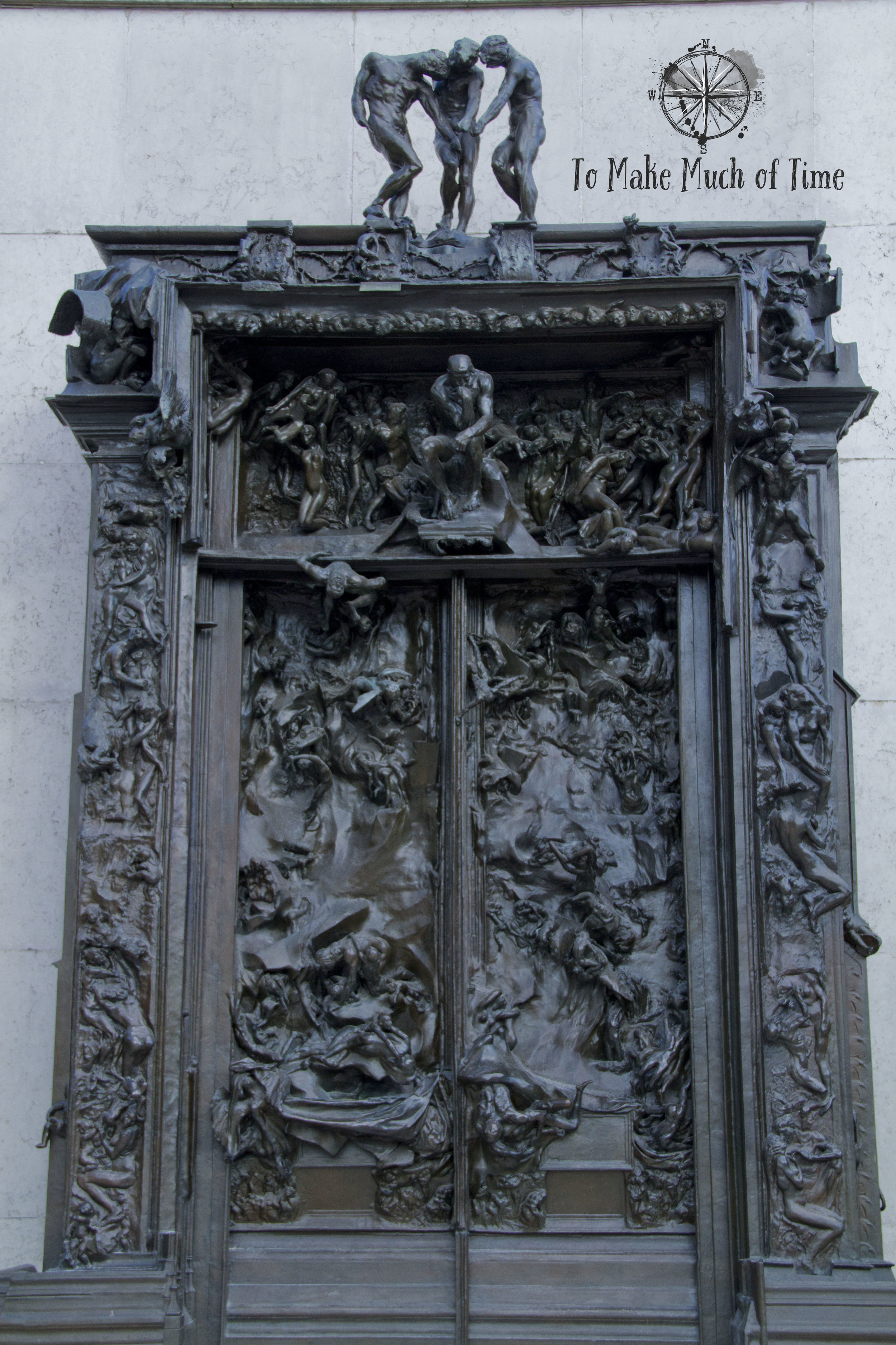 I love this massive (20 foot tall) bronze sculpture of the Gates of Hell. You can see a small version of The Thinker perched above the gates. Read more about this sculpture  here