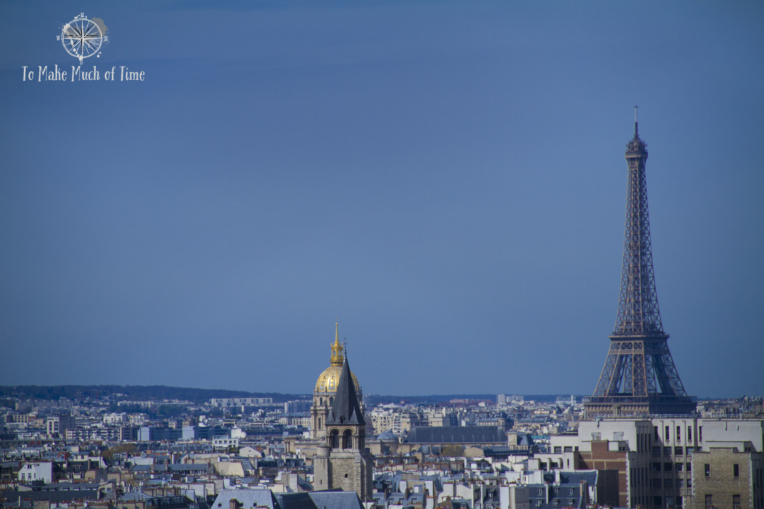 Probably our best view of the Eiffel Tower was from the top of Notre Dame.