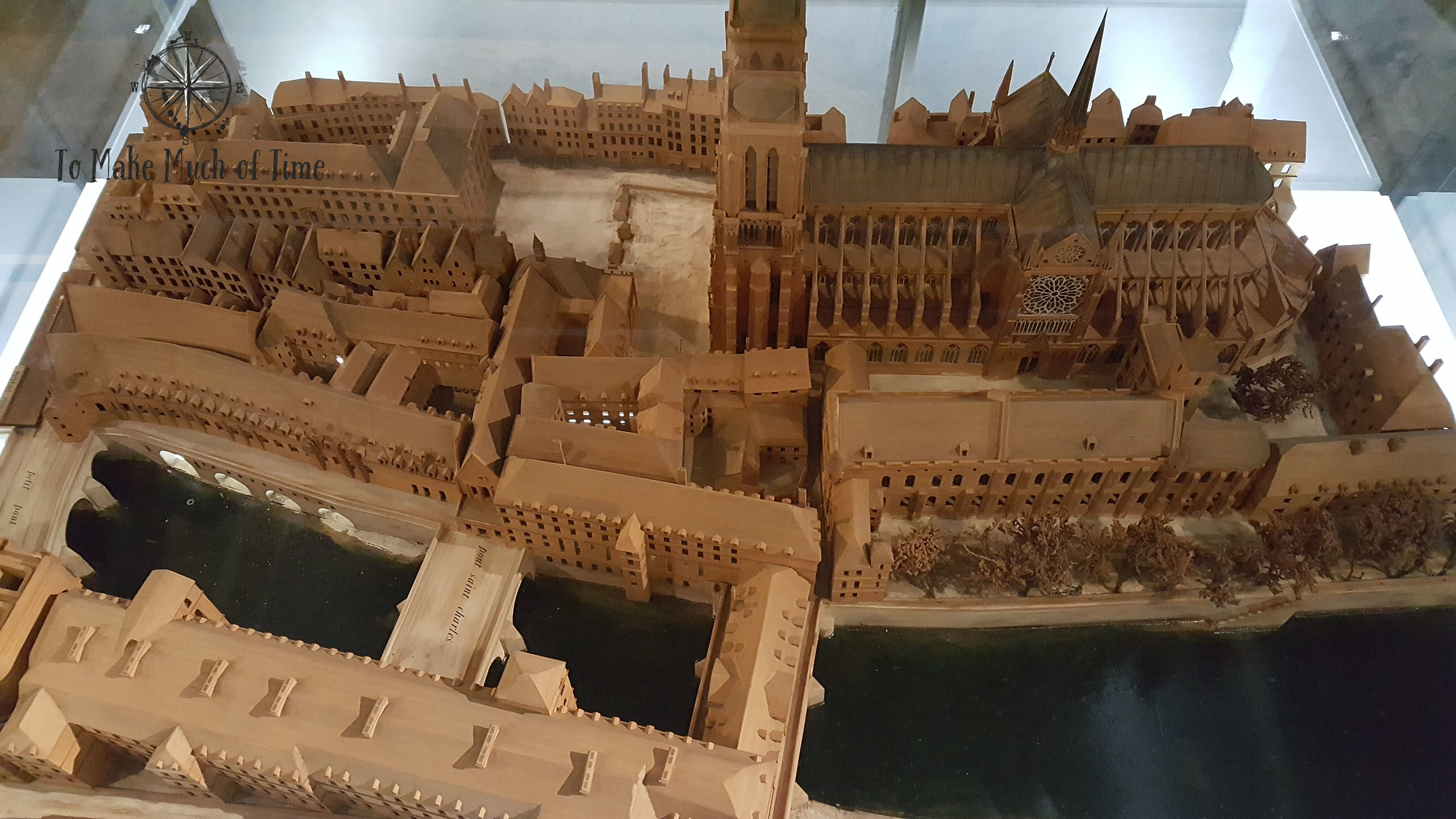 This model in the Crypt showed the island at one point in history - you can see Notre Dame on the right.