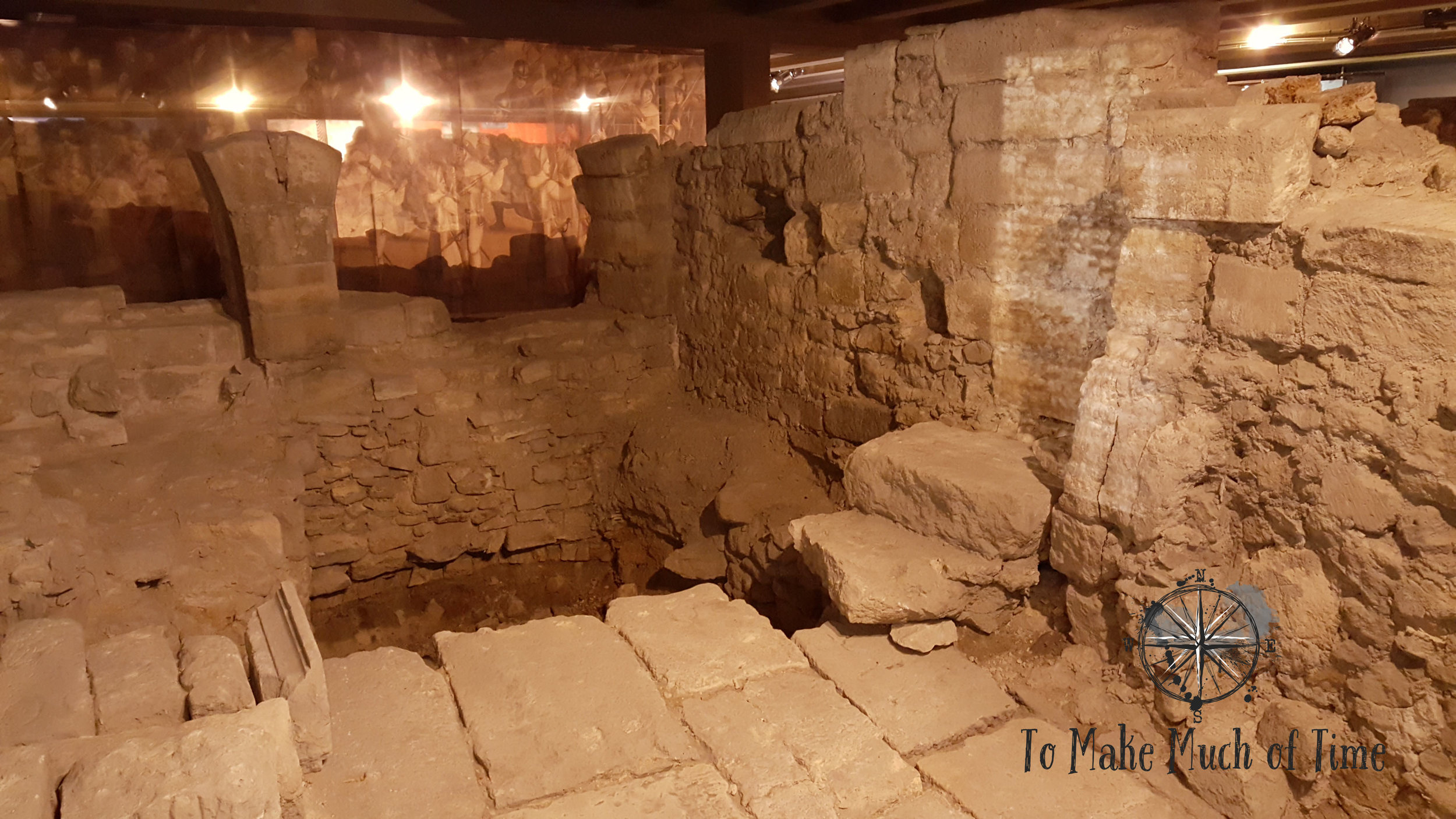 Buried under the open area in front of Notre-Dame Cathedral lies a literal buried city.