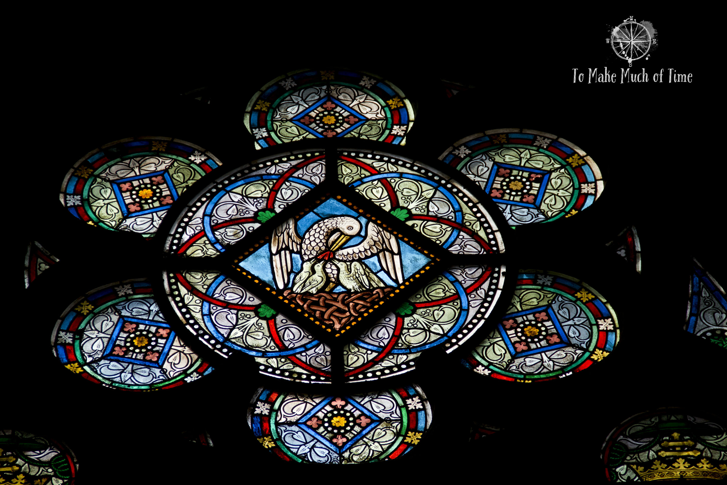 The stained glass of Notre Dame is amazing.