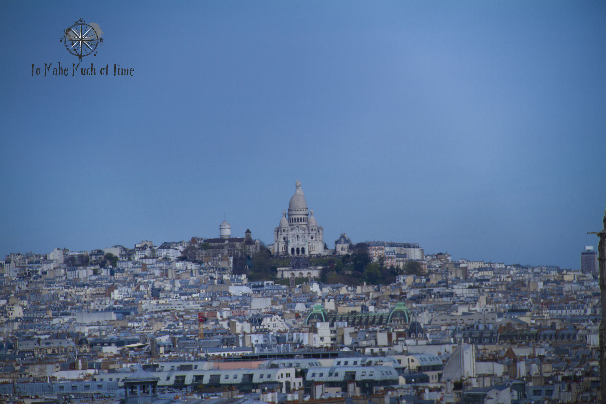 Montmartre waaay off in the distance. Next trip we'll have to visit this amazing site.