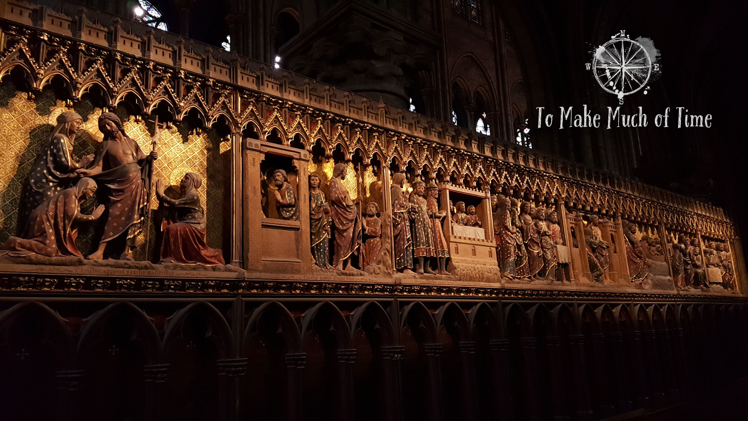 Notre Dame Cathedral | Stories of Christ Wooden Relief | Paris France | To Make Much of Time