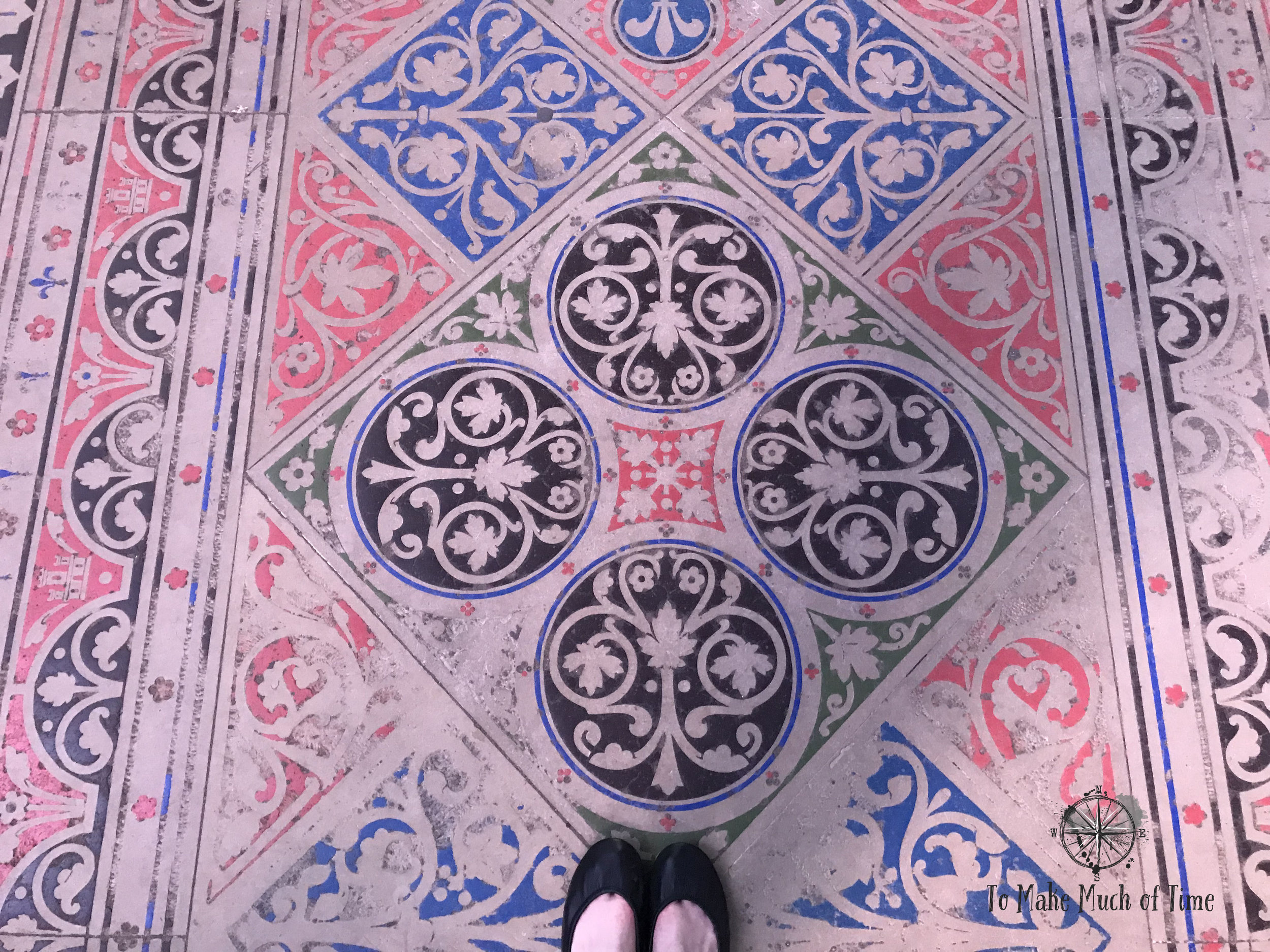 Be sure to look down at the amazing floors of Sainte-Chapelle.