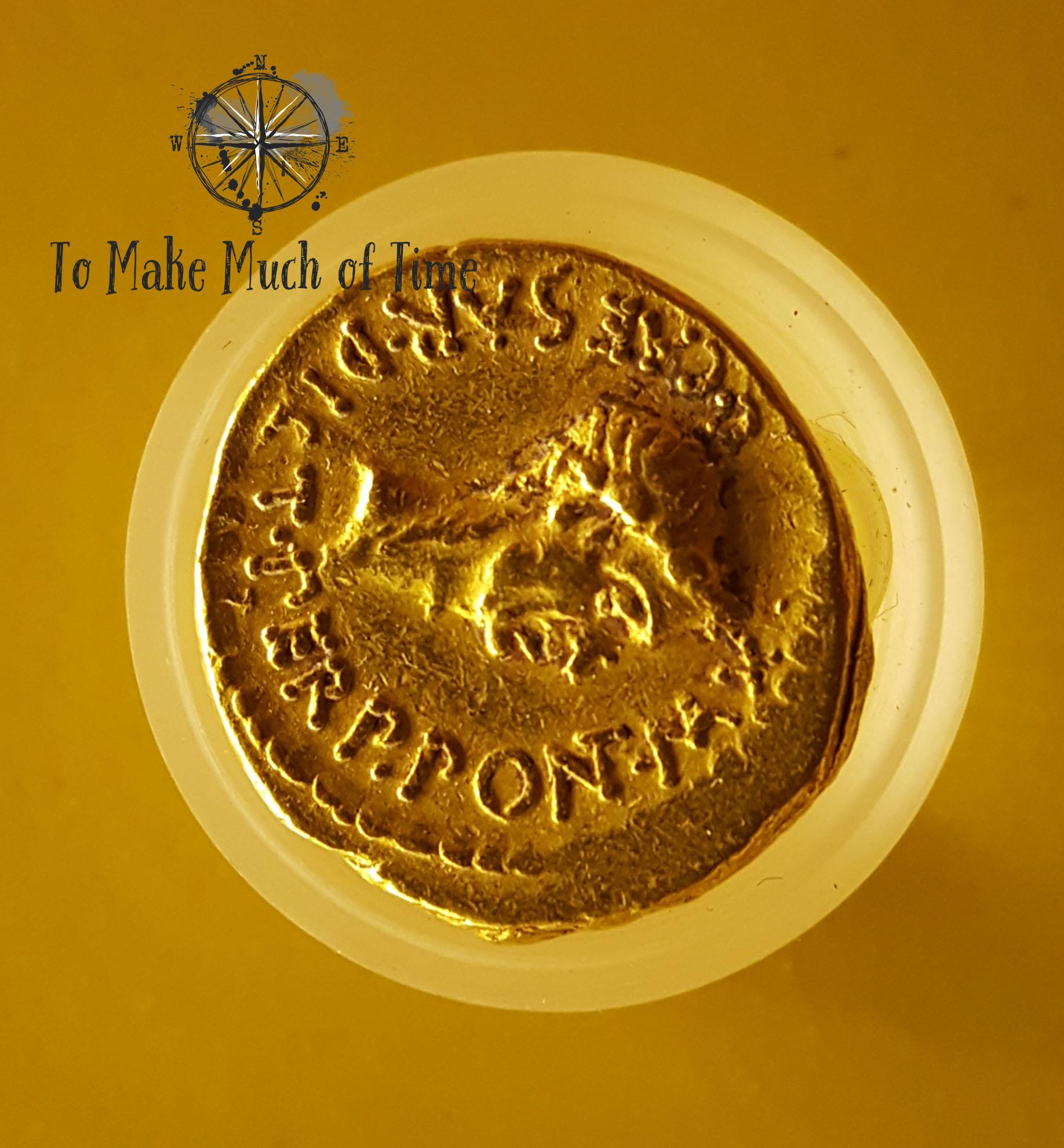 Roman Coin | Crypte archéologique de l'île de la Cité | To Make Much of TIme