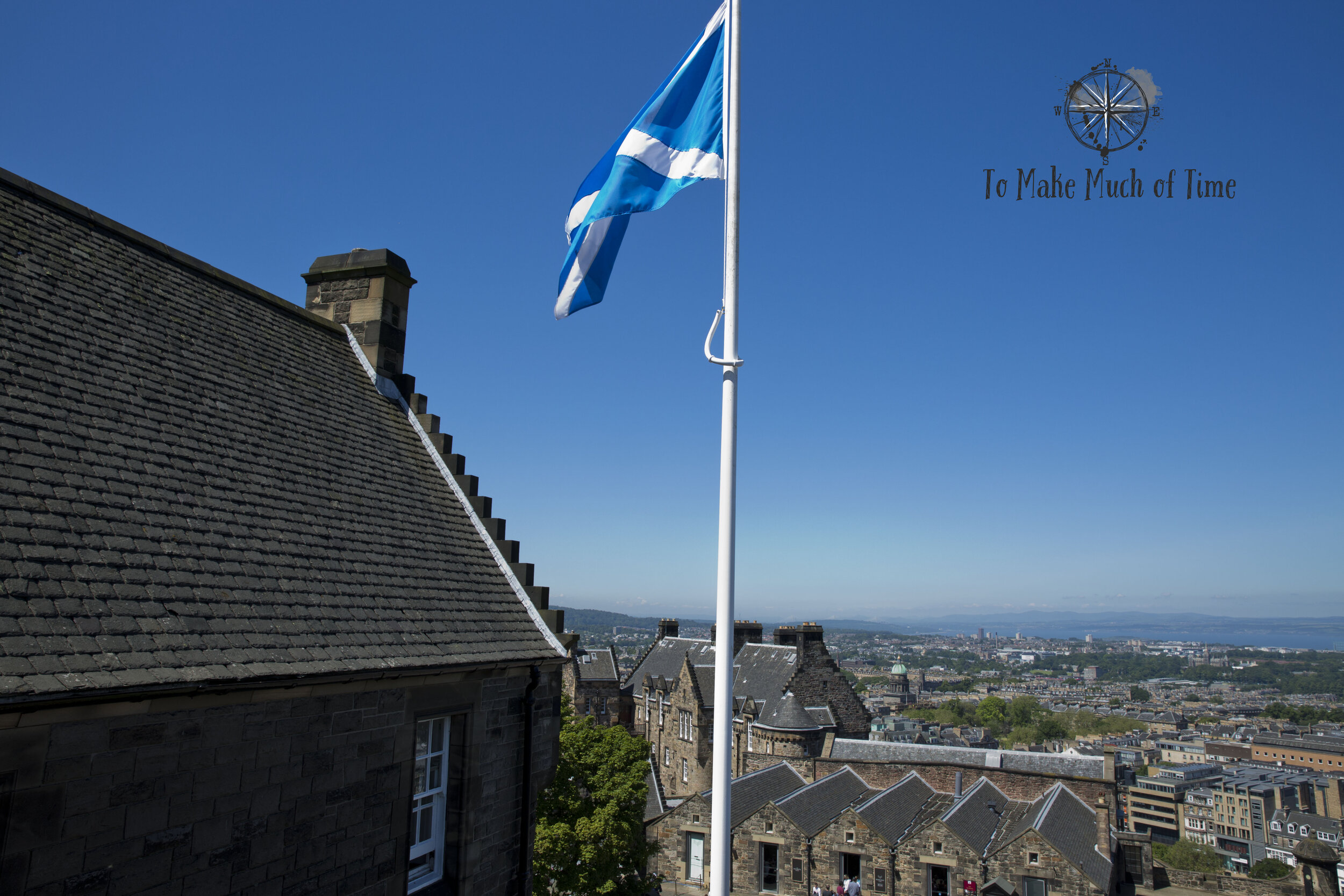 Taking a tour of Edinburgh Castle affords excellent views as the city spreads out below you.