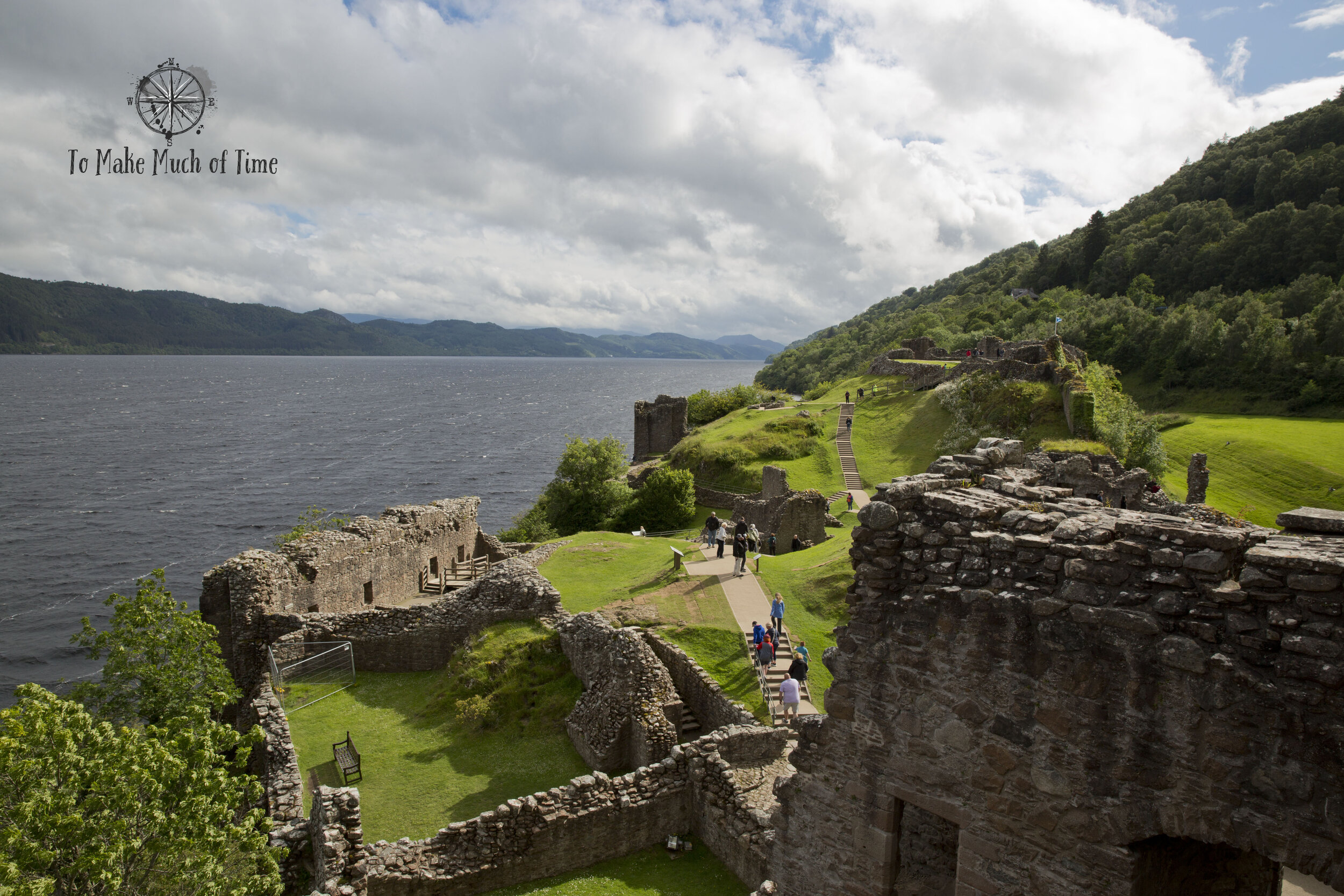 Scotland has more castles than you can possibly see in one trip. Many, such as Urquhart, seen here, are open to the public allowing you to stroll through the ruins and learn about the history of the region.