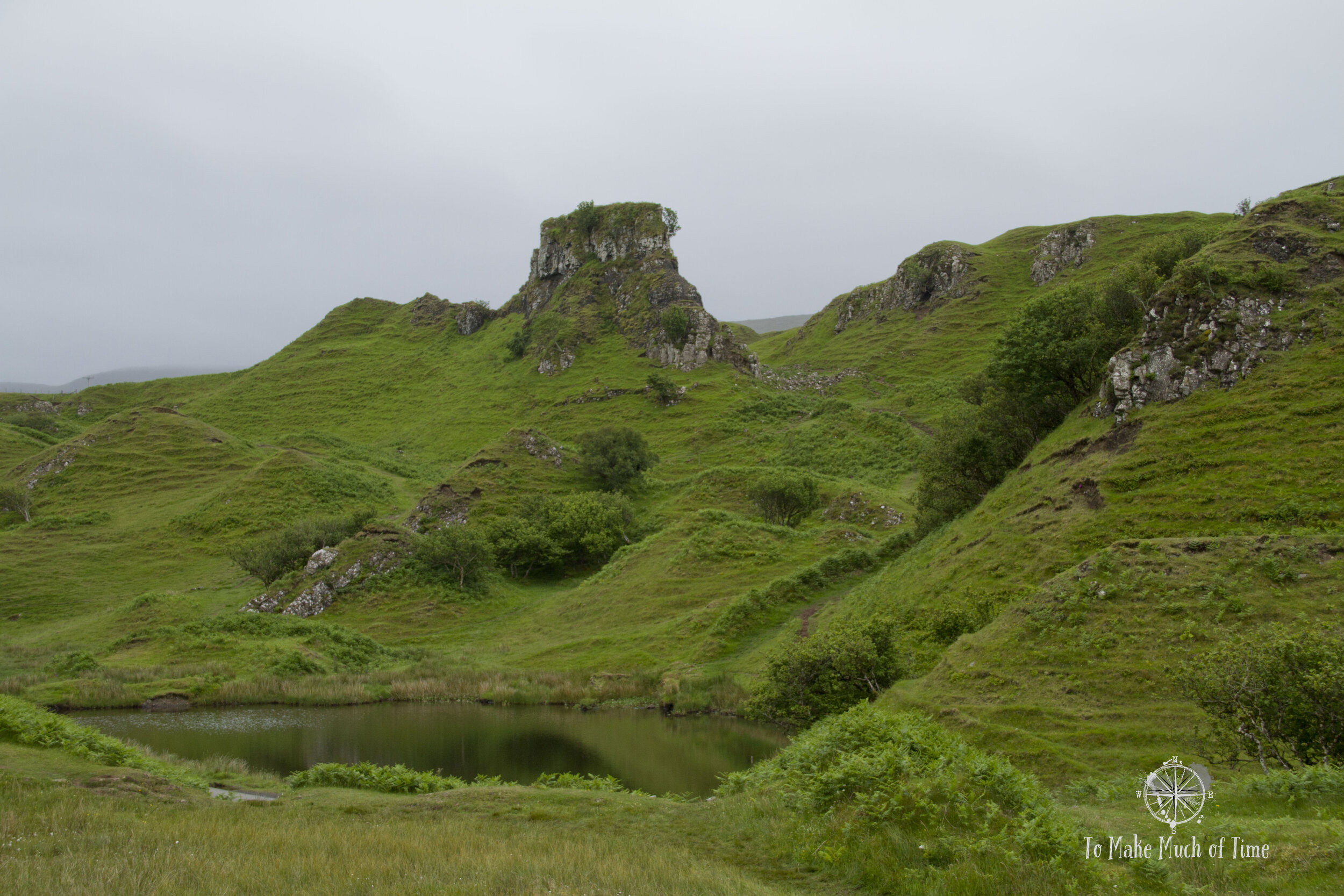 Fairy Glen is home to some amazing geology which provides a magical air. You can just imagine faeries living in a place like this.