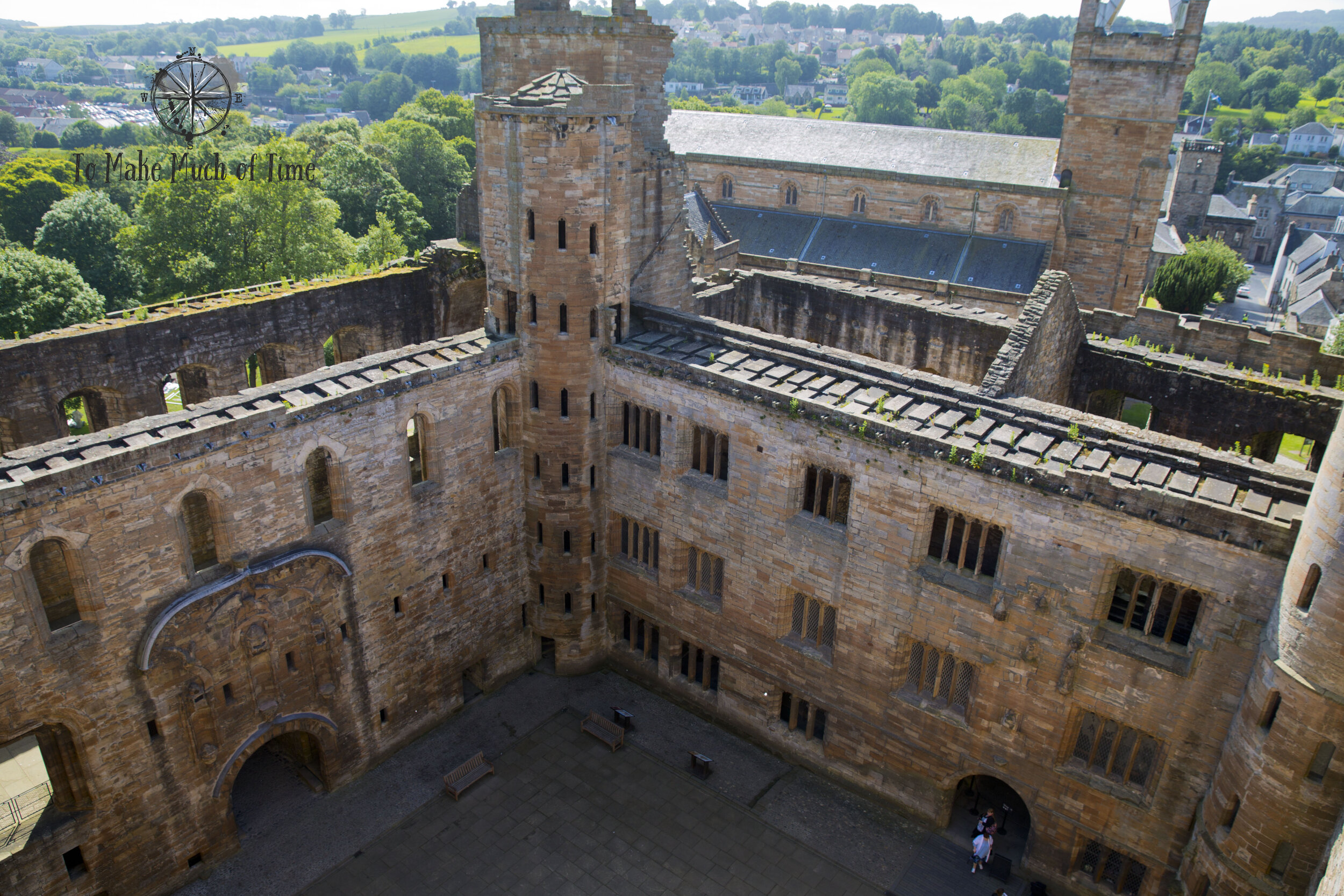Take your time as you walk through the ruins of Linlithgow Palace and try to imagine what this estate must have looked like before a fire gutted the interior.