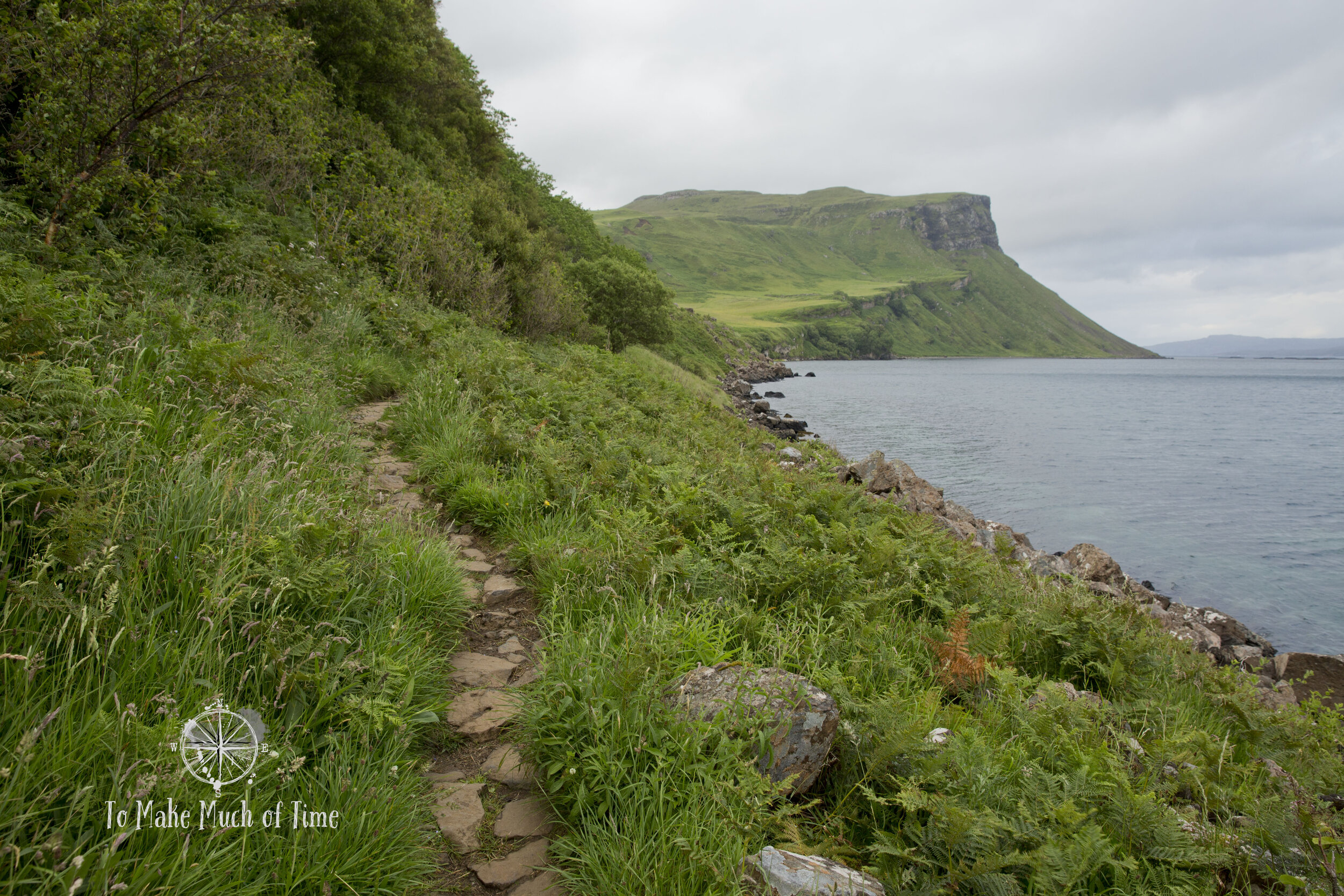 This wonderful hike right outside the town of Portree on the Isle of Skye leads you around Ben Tianavaig (unseen mountain to the left) and provides excellent views and photo opportunities.