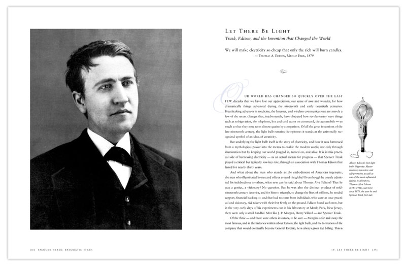 Spencer Trask biography sample text spread