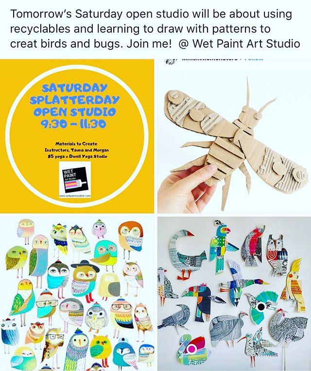 Splatterday fun tomorrow at Wet Paint Studio!!! Register @ wetpaintstudiolc.com