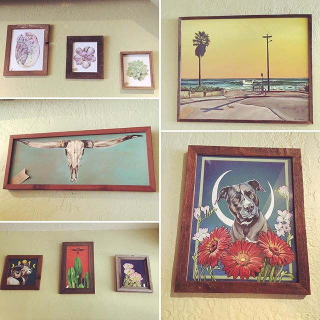 We have all enjoyed the artistry of @costanzo_creative at Ocean Yoga for the past few months. Brittany Costanzo @britt__c has created stunning artwork inspired by botanicals, the Southwest, and our favorite animal friends that has brightened up our Ocean Yoga lounge area and filled the space with a lot more color and contrast. . Towards the end of the August, we will be rotating artists. Although we will be keeping some of our favorite pieces and hanging them in other parts of the studio, now is definitely the time to purchase that @costanzo_creative piece you've been eyeing. . Price tags are on each individual art piece and the cost includes a one of a kind frame made from reclaimed wood. . Stop by the Ocean Yoga lounge today to take in Brittany's amazing work. Her pieces could be the perfect addition to make your home a little more cozier and a lot more unique! . #art #artwork #yogastudio #oilpainting #studioart #southwestinspired #yogalife #homedecor #oceanyogapacifica #bayareayoga #bayareayogastudios