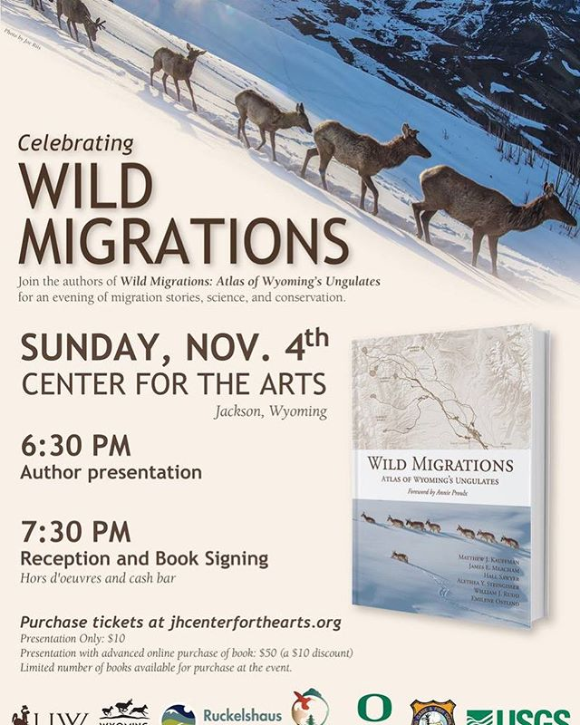 Tickets are still available this evening for this incredible event @thecenterjh. - @migrationinitiative @wygameandfish @uofwyoming @biodiversityinstitute @haub.school