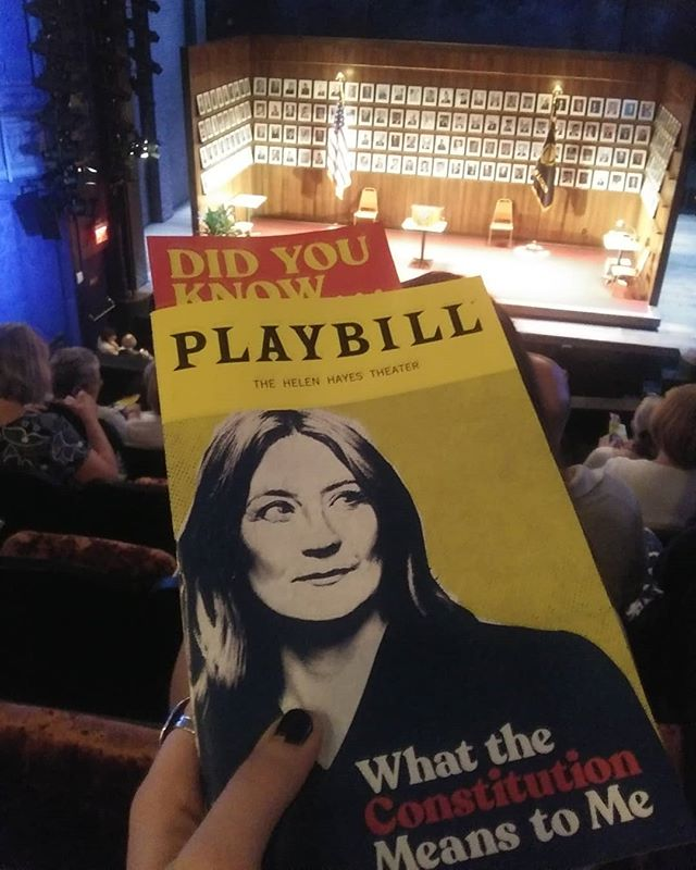 Matinee with @heidischreck @constitutionbwy followed by @cher @thechershow. What. A. Day. #thisisafirst #twoinone