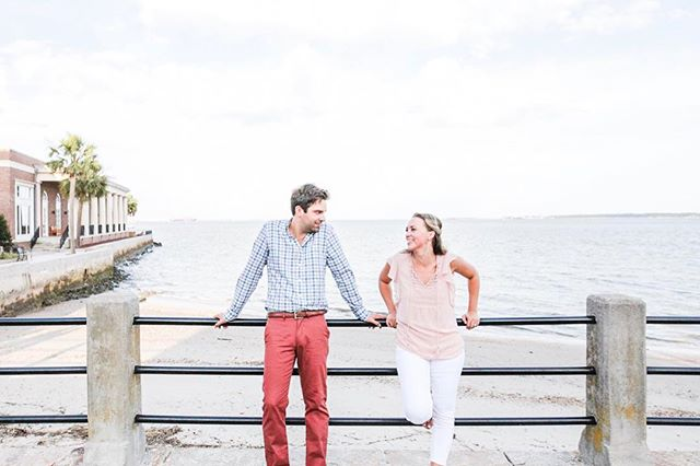 These two get married this weekend!! Can't wait film their day!  We captured this shot from a fun engagement video we created in collaboration with @kellyvcalaway photography! . . #charlestonvideographer #charlestonsmallbusiness #charlestoncreatives #lowcountryweddings #weddingseason2019 #charlestonsc #downtowncharleston #eastcoastcreatives #weddingvideography #tellyourstory #charlestonliving #charlestonengagement #chsweddings