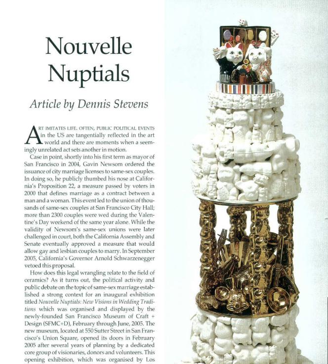 Ceramics: A&P - Nouvelle Nuptials