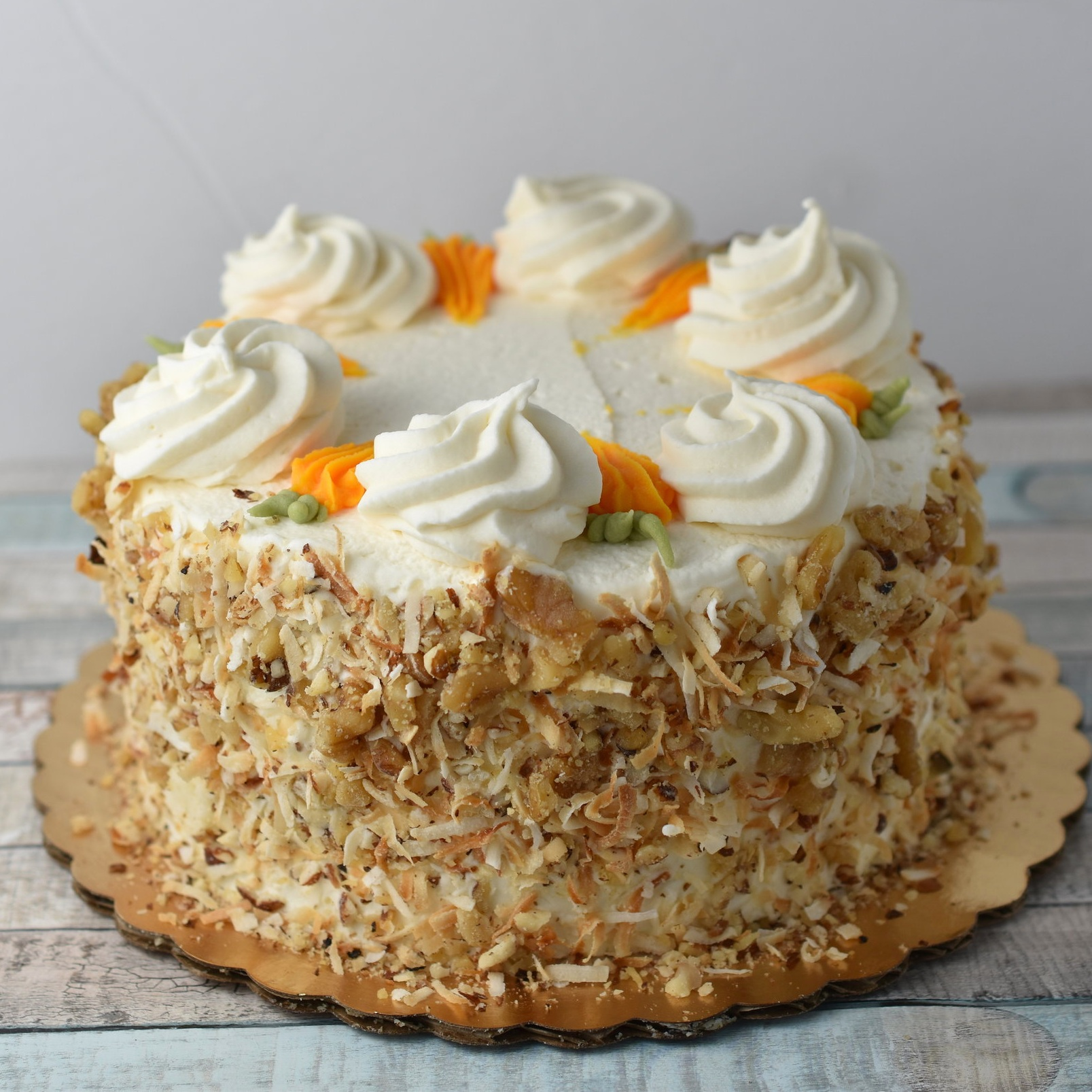 Carrot  - Spiced carrot cake and cream cheese frosting. Go for an extra wow and add caramel filling.