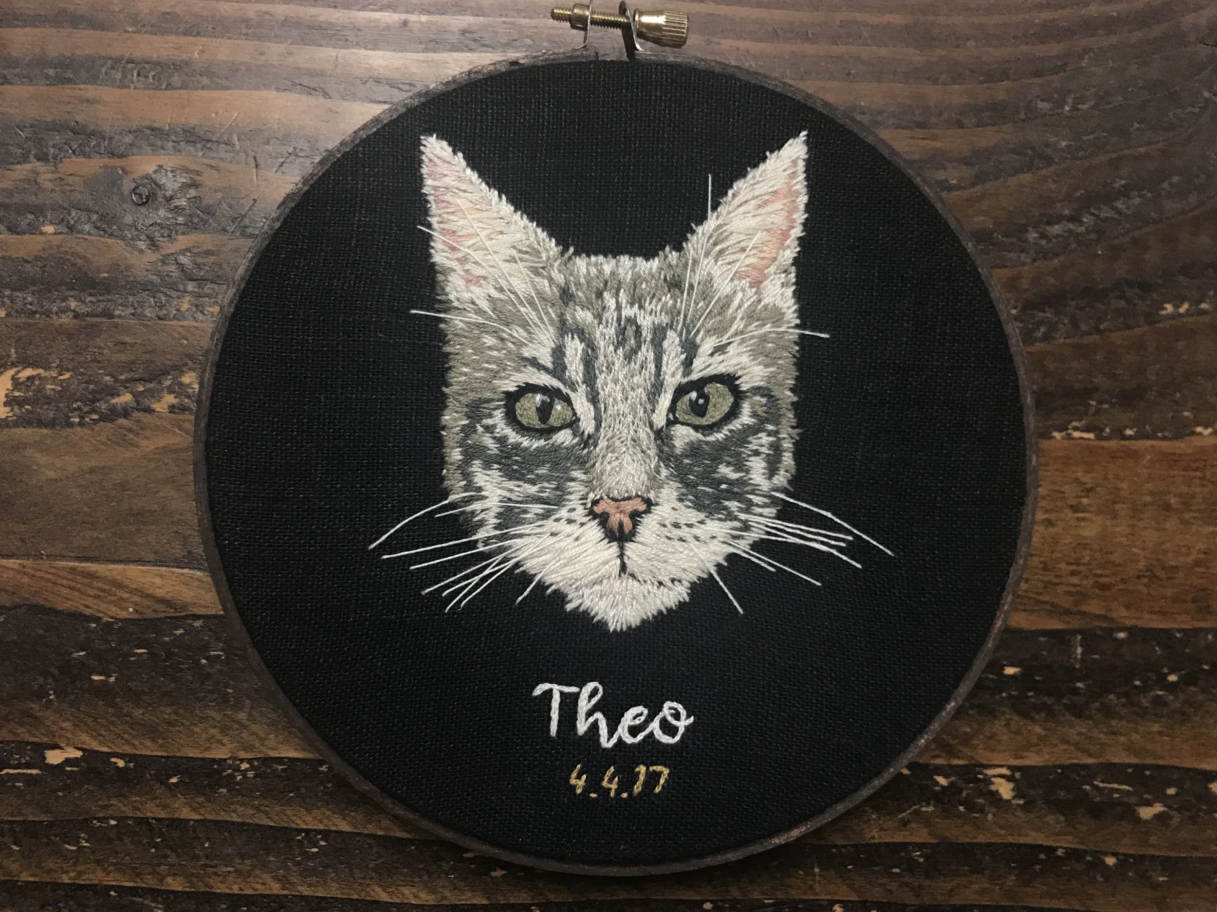 """""""I love it!"""" - Birthday Present for my daughter's one year old kitty! She was blown away....What an amazing portrait....Very true to life. Such talent! Will definitely be ordering some other personal items. Great Job!!— Karen T."""