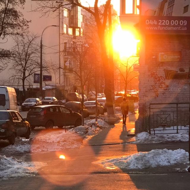 Sunlight in Kyiv, Ukraine