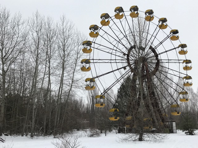Ferris wheel in Chernobyl, Ukraine