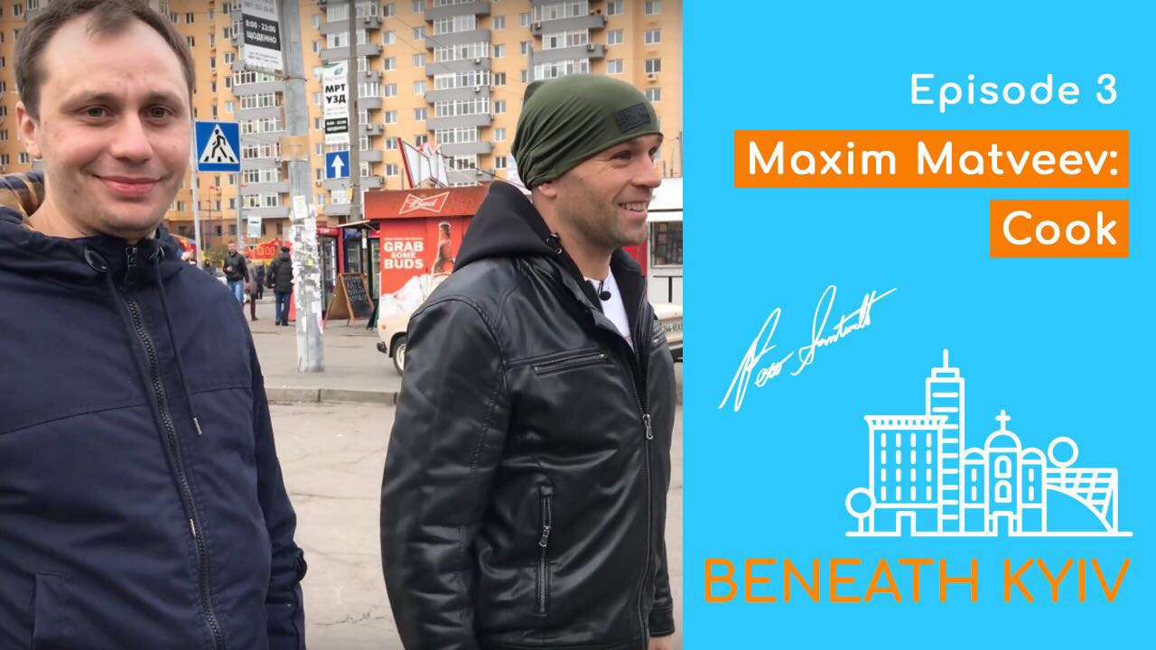 Ex-drug addict and Peter Santenello in Beneath Kyiv show
