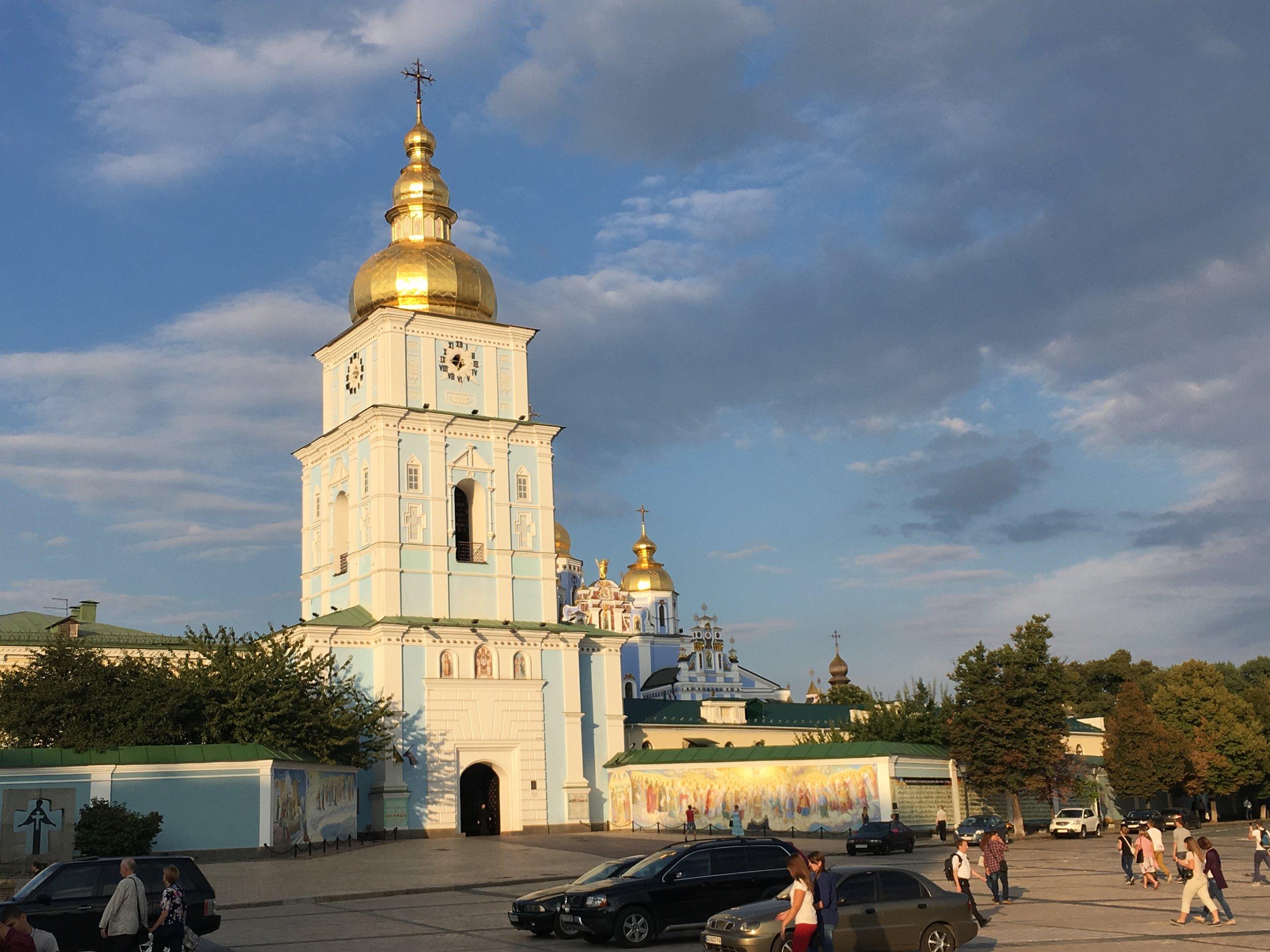 Beautiful church in Kyiv, Ukraine
