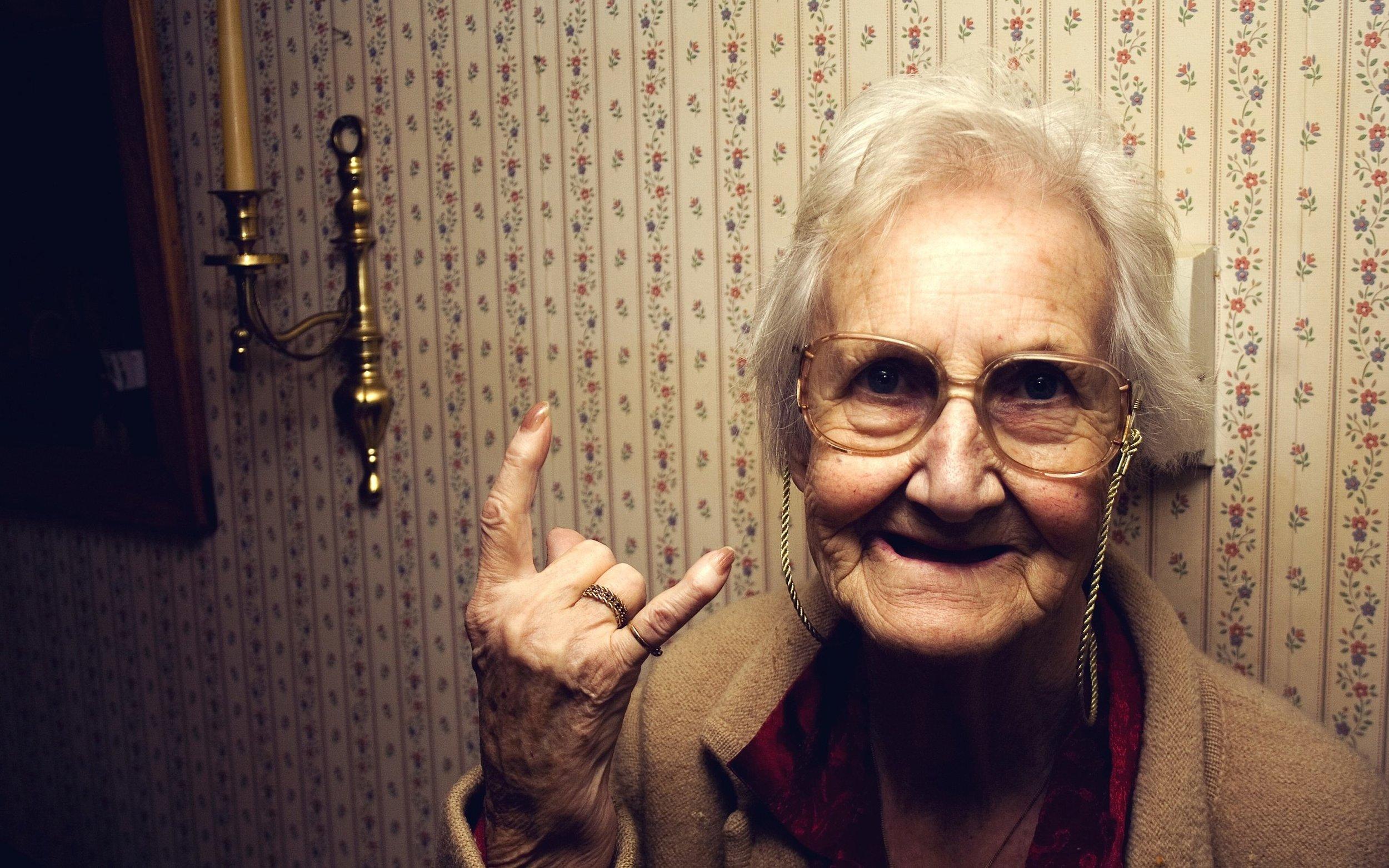Old stylish woman