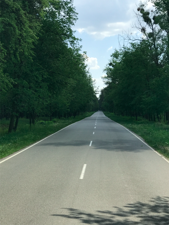 High-quality road in Ukraine