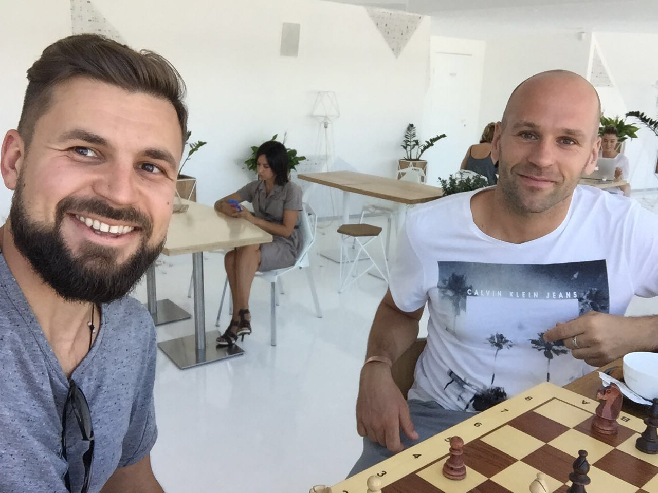 Peter Santenello and his Ukrainian friend