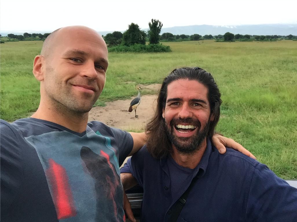 Peter Santenello and his friend Gavin