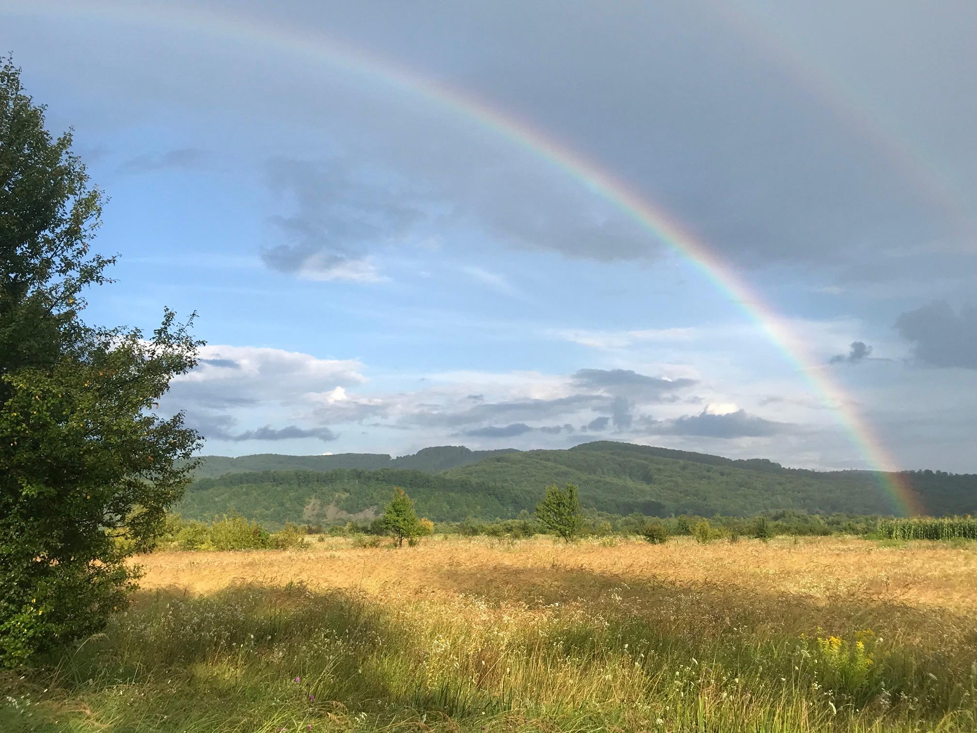 Beautiful rainbow in Ukraine