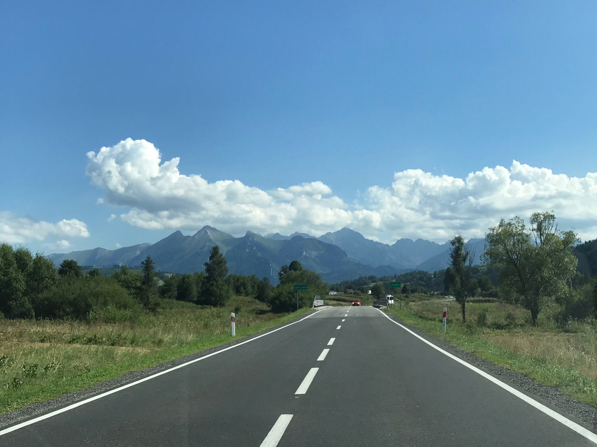 Long road and the mountains